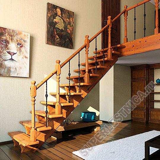 Готовая лестничная конструкция со ступенями из натурального дуба обойдется вам всего в 75136 рублей