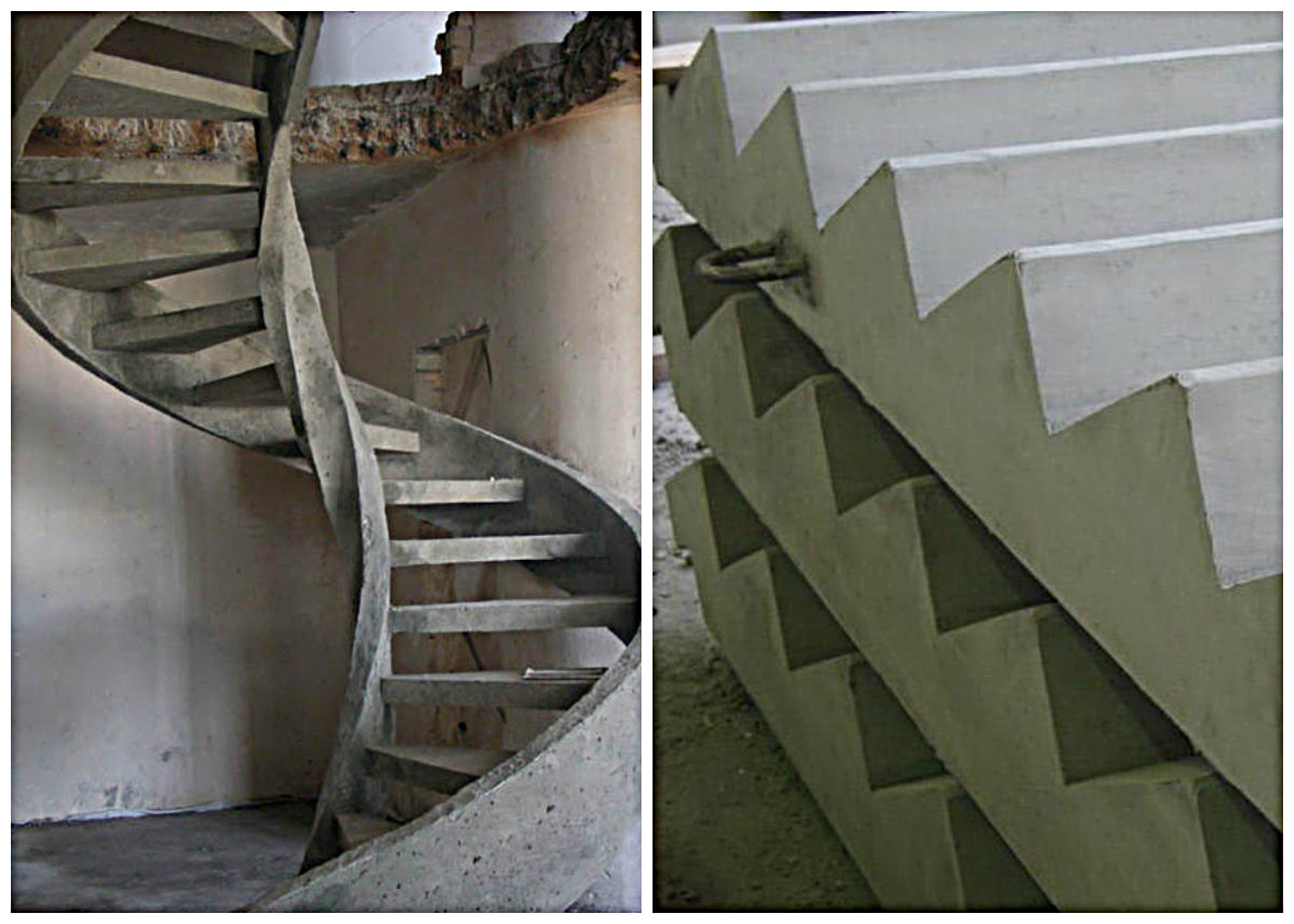 Разновидности бетонных лестниц