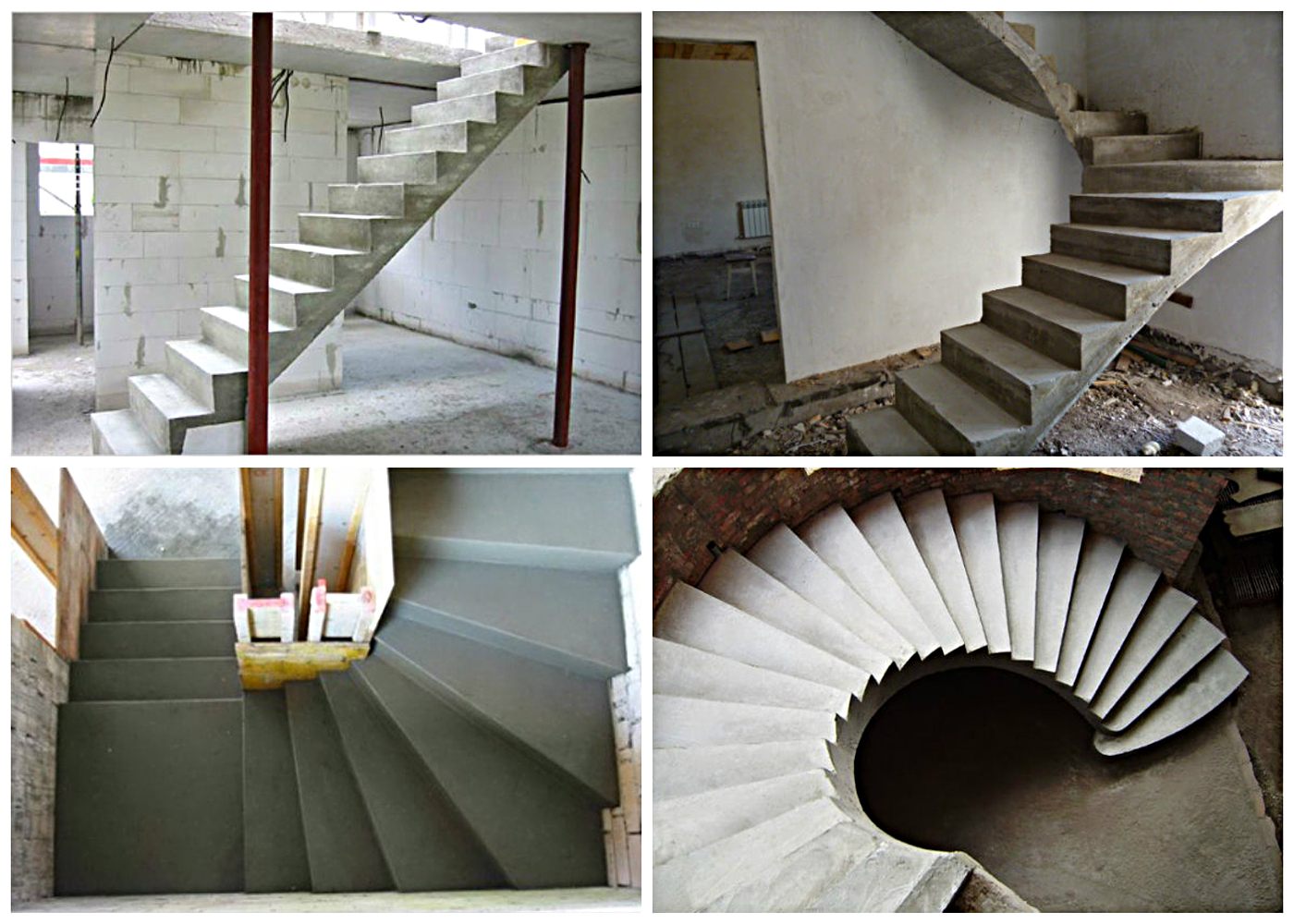 Варианты конфигурации лестниц