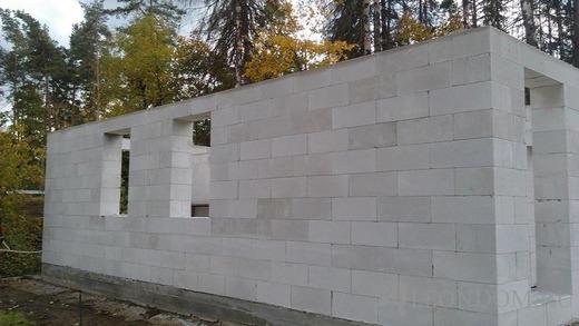 Строительство дома из газосиликатных блоков в лесу