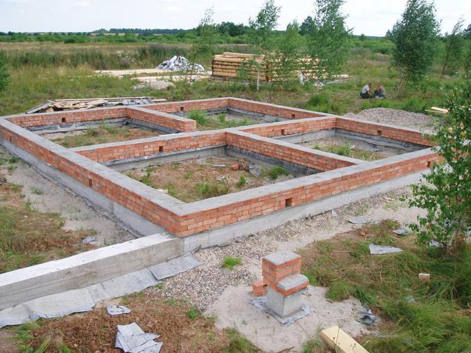 Строительство на ленточном фундаменте