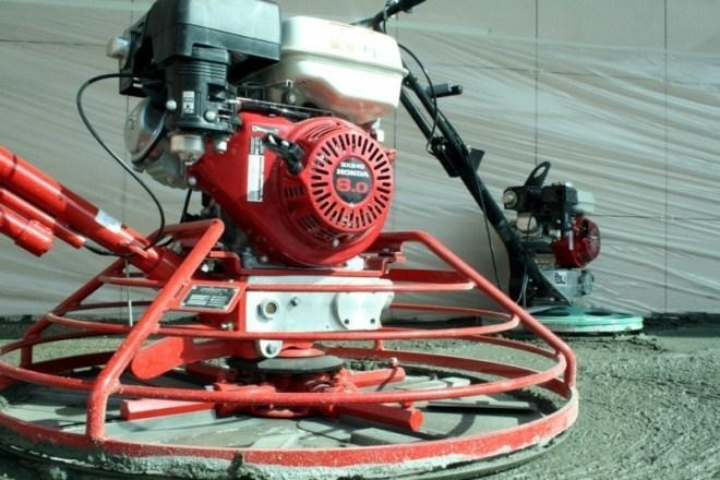 Используемое оборудование для затирки бетона