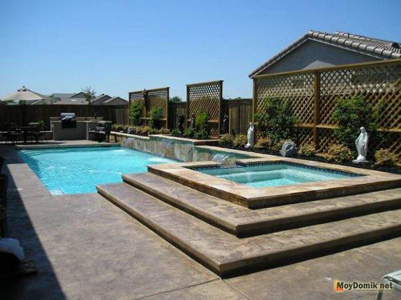 Два бассейна из бетона - детский и взрослый