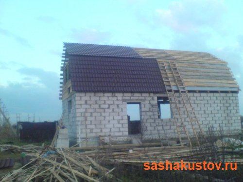 Дом из газобетона с мансардой своими руками
