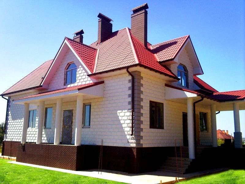 Дом из блочных элементов можно построить за одно лето