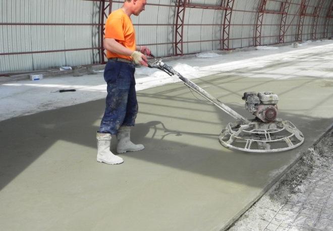 Этапы затирки бетона
