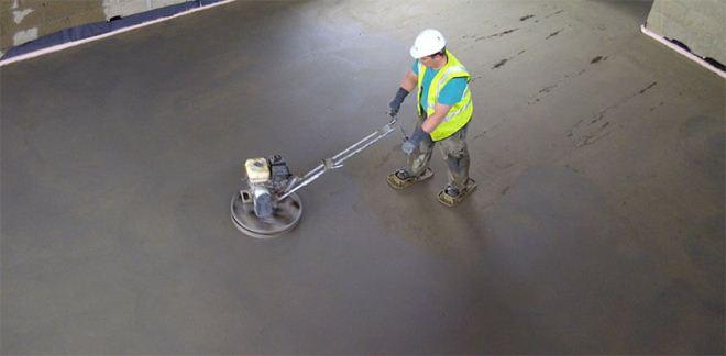 Техника безопасности при затирке бетона