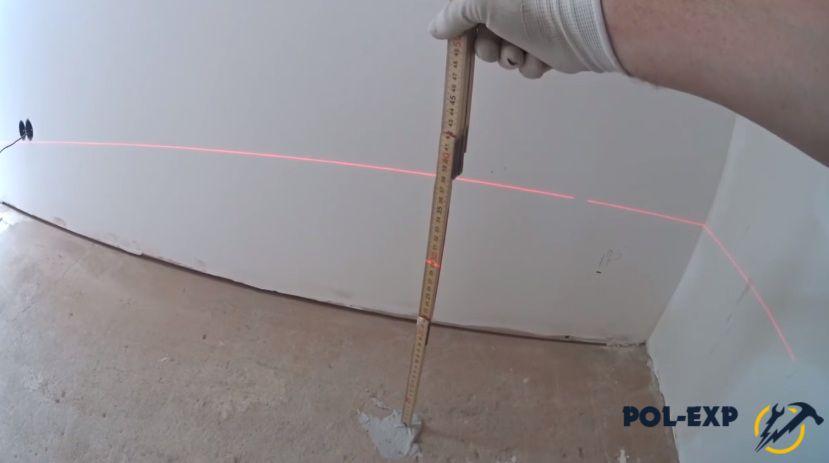 Проверка расстояния от крестика до луча
