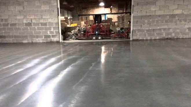 Финишная затирка бетона