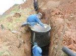 Смотровой колодец канализации