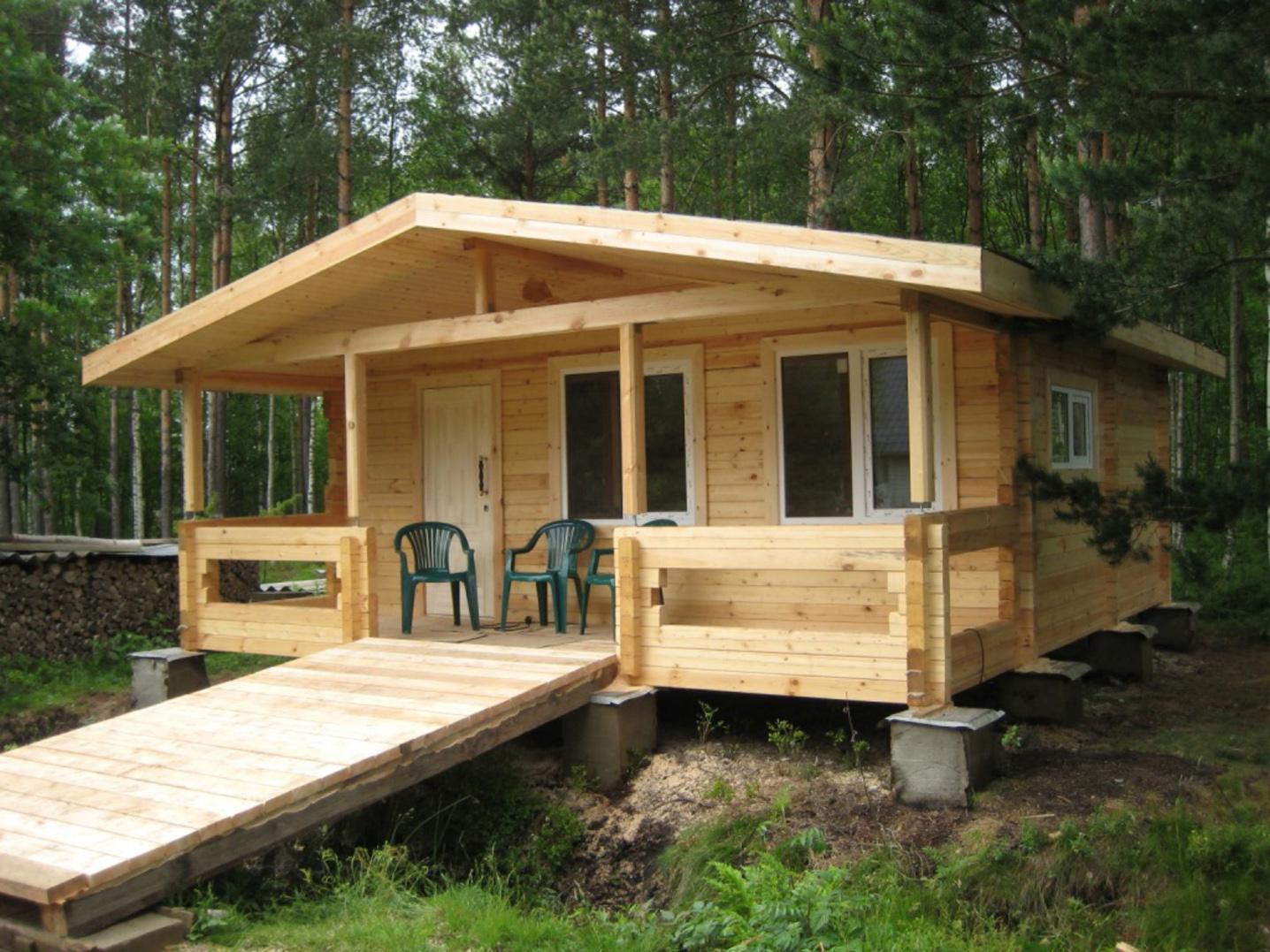 Пример дома на столбчатом фундаменте