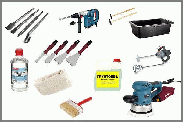 Инструменты для подготовки к оштукатуриванию