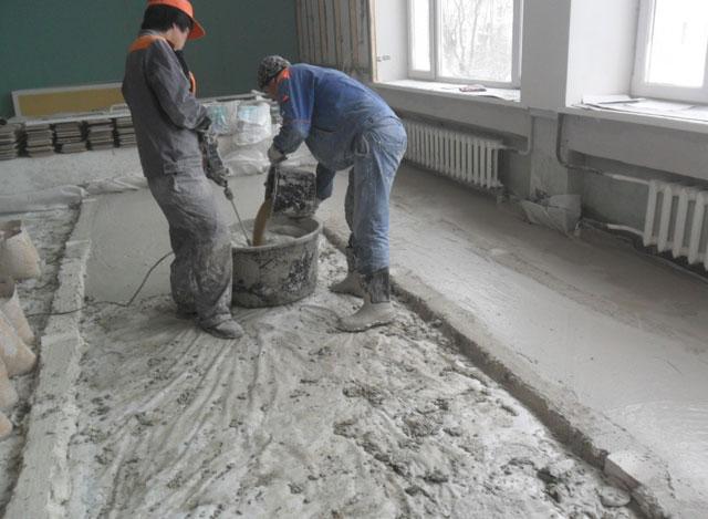 соотношение цемента и песка для стяжки