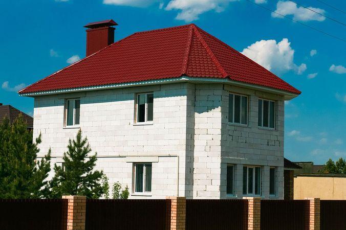 Вид дома из блоков газосиликата