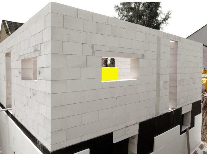 Так выглядят стены из качественного газосиликата правильной геометрии