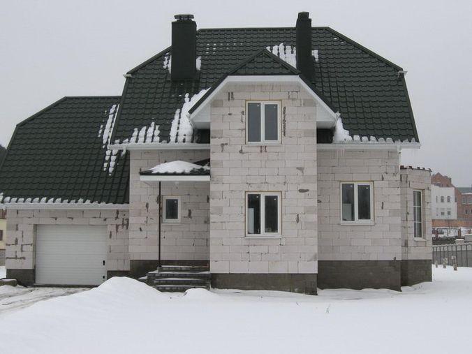 На зиму лучше не оставлять газосиликатные блоки открытыми