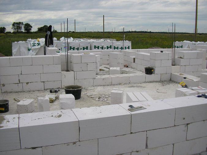 Строительство стен из блоков газосиликата