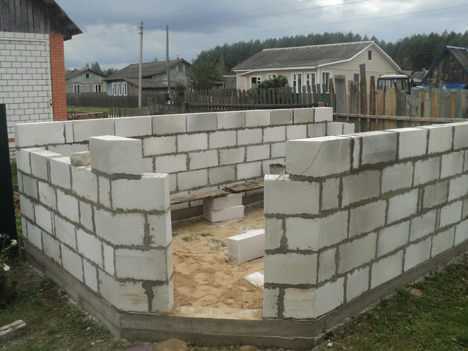 Расчет блоков для гаража по рядам | Сколько нужно блоков на гараж: как рассчитать количество