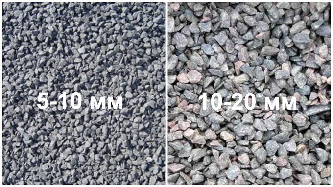 фракции щебня для бетона