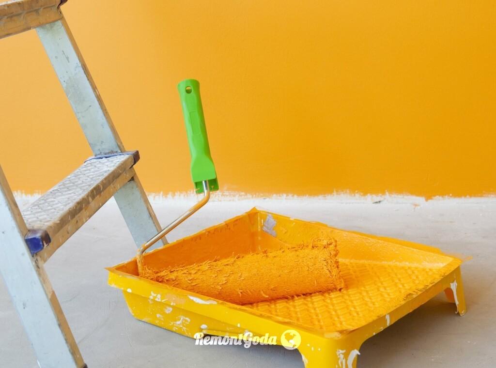 фото: Как покрасить бетонные стены