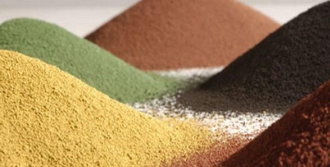 Наиболее популярный краситель – железооксидный