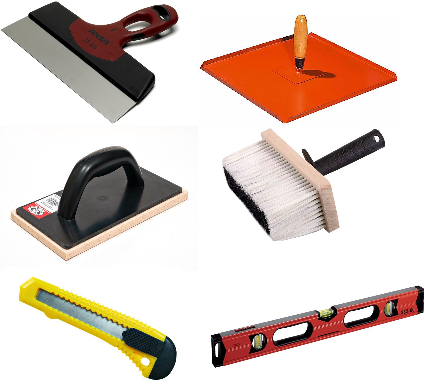 Для заделывания трещины между бетонными плитами пригодятся такие инструменты