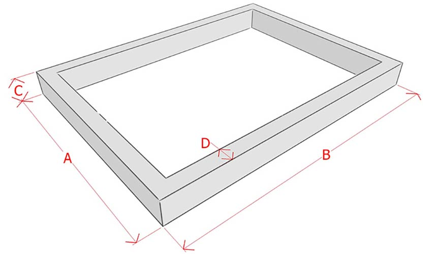Расчет кубатуры ленточного фундамента