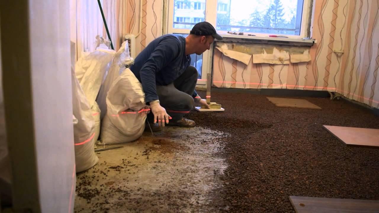 Необходимо проводить шлифовку бетонного основания для придания ему исключительно ровной поверхности