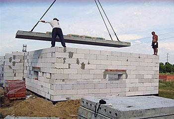 Перекрытие стен из газобетона