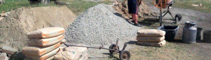 Приготовление цементного раствора для кладки кирпича