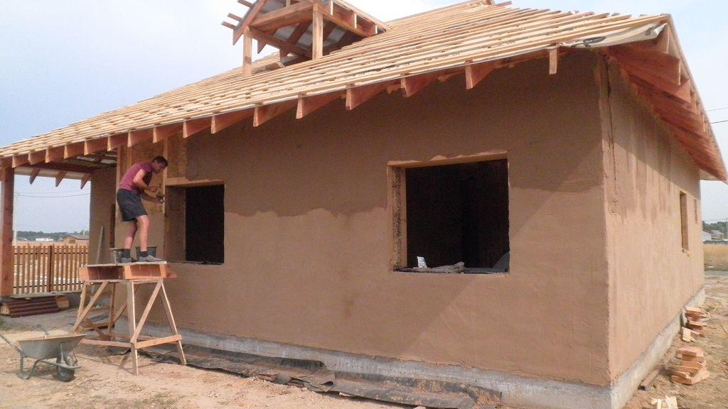 Пример оштукатуривания фасада