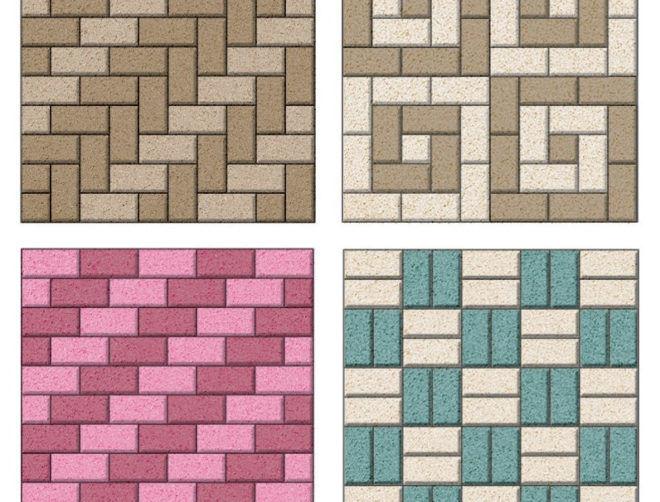 Простые схемы укладки тротуарной плитки