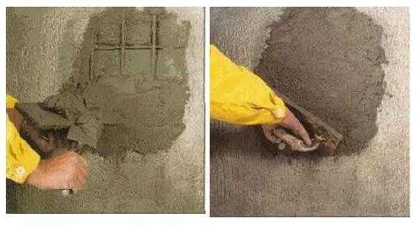 Работы по заделыванию арматуры в бетонных стенах