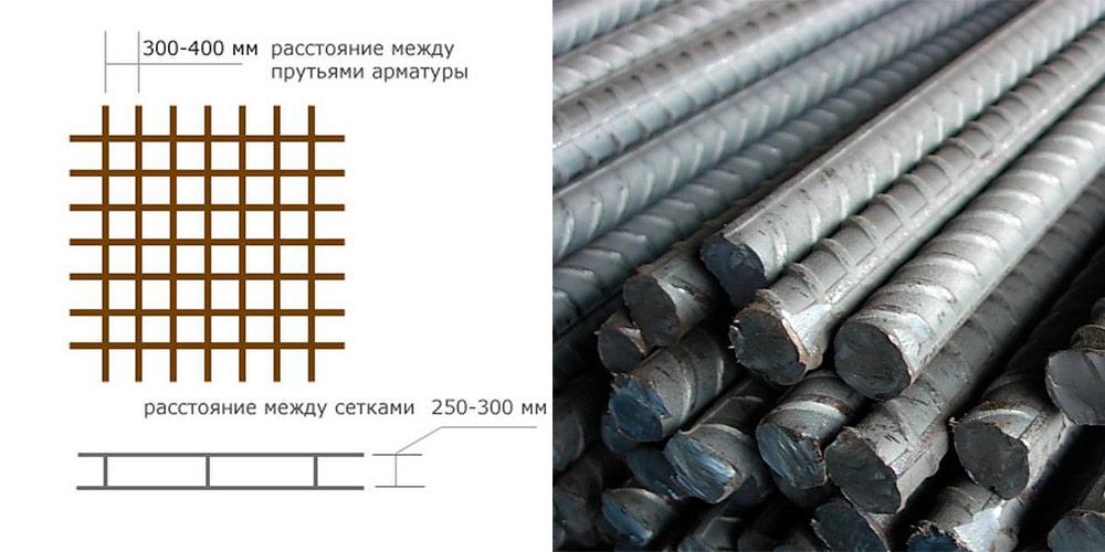 Выбирают расстояние прут от прута в диапазоне 0,2 – 0,4 мм