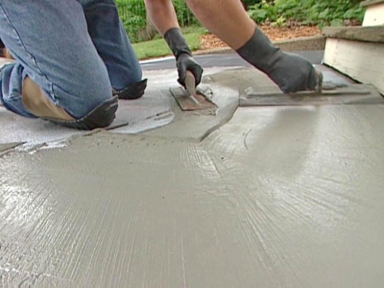 Выравнивание глади бетона