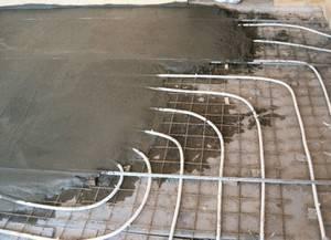 Вид заливки теплого водяного пола