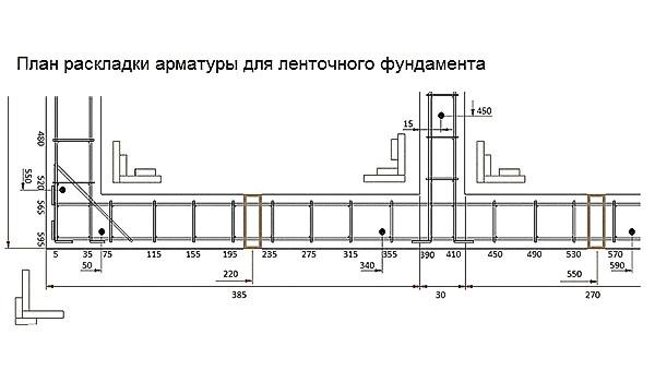 план раскладки арматуры