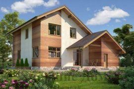 Проект дома из газобетона с мансардой в канадском стиле