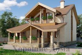 Оригинальный дом из газобетона в утончённом стиле 10.1x13.3 213.9 кв.м.