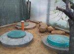Трехкамерный септик из бетонных колец
