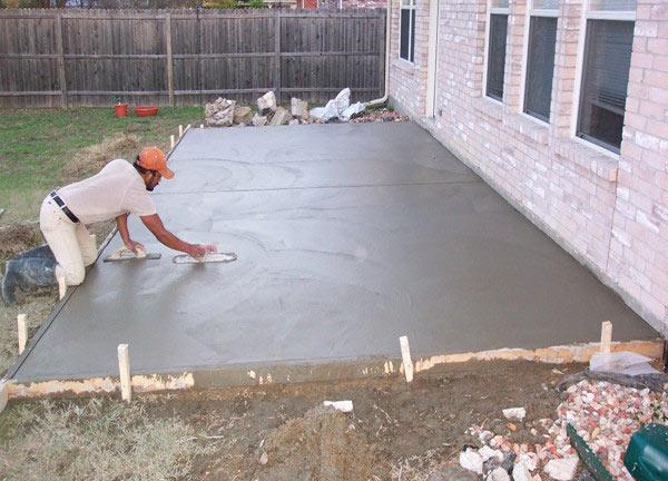 Укрепление бетонного пола.