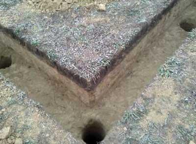Канава под буронабивной фундамент