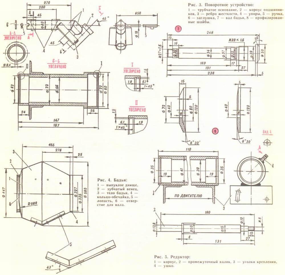 Самодельная бетономешалка чертеж