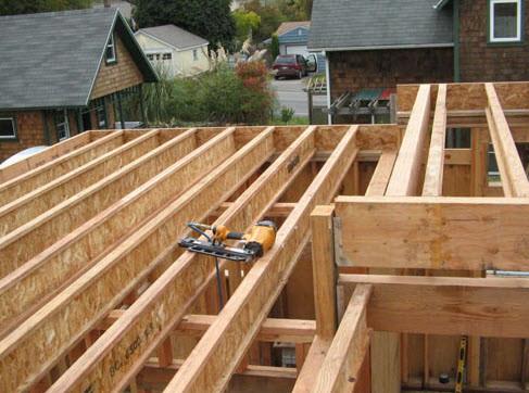 Делать деревянное перекрытие между этажами нужно из балок, изготовленных из сухой древесины хвойных пород деревьев.