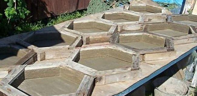 Деревянные формы для плитки, изготавливаемые по принципу опалубки