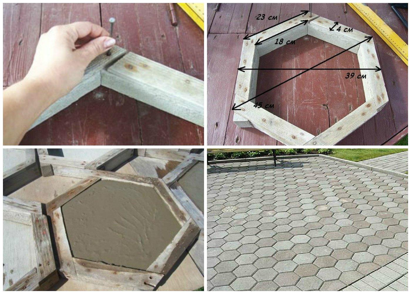 Деревянная форма для плитки