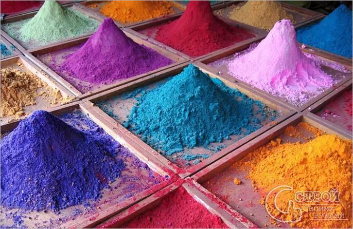 Для окрашивания бетона используют красители