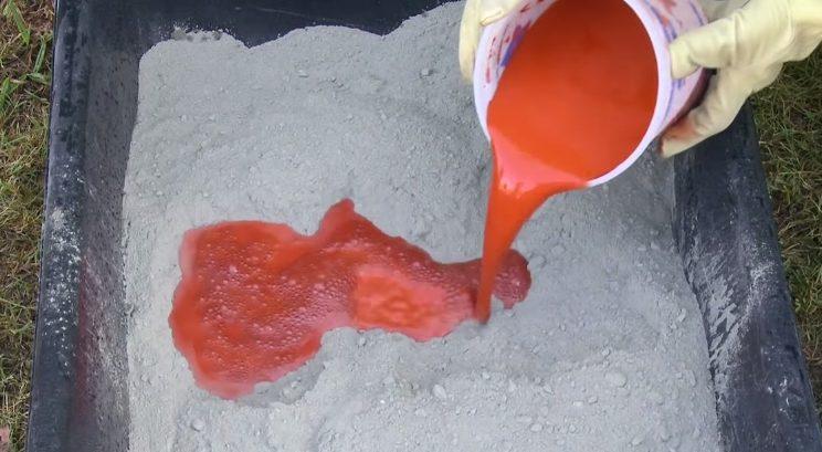Цвет бетона зависит от качества цемента и красителя