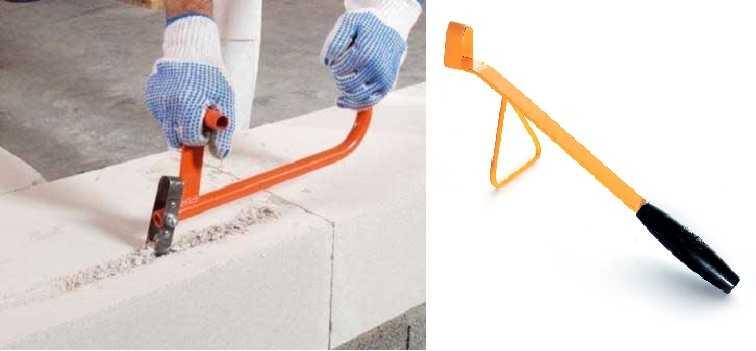 Две модели штробореза для газоблока