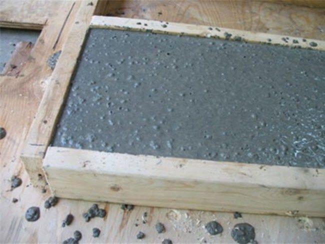 Жаростойкий бетон в форме